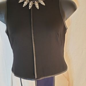 Lauren Ralph Lauren dress sleeveless 10 faux leath